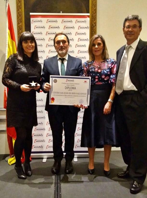 El Centro San Juan de Dios de Valladolid premiado con la Estrella de Oro a la Excelencia Profesional