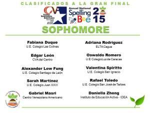 CLASIFICADOS SB2015_SOPHOMORE