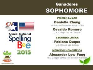 GANADORES SOPHOMORE