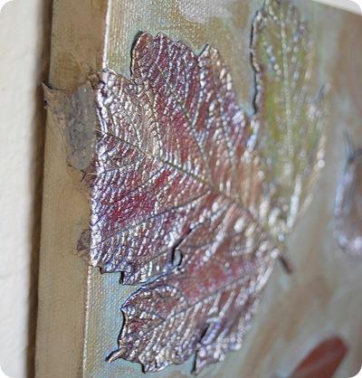 big leaf wrapped around canvas