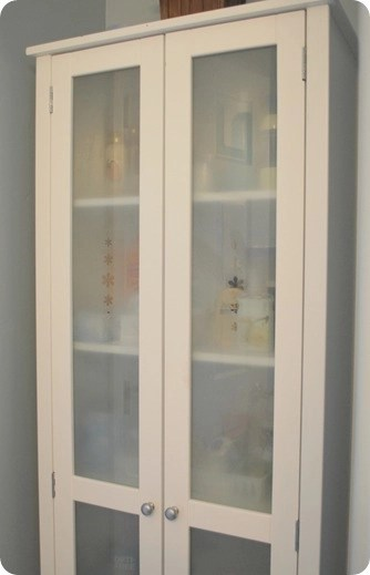 frosted glass cabinet after