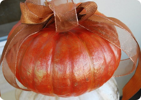 gilded pumpkin