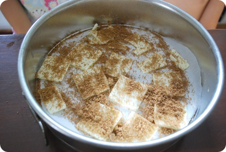 layer butter and brown sugar mix