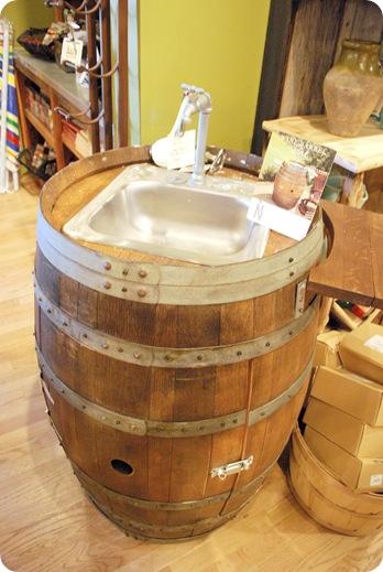 napastyle wine barrel sink