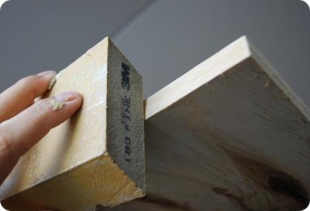 sand plywood edge