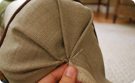 fold and handstitch end