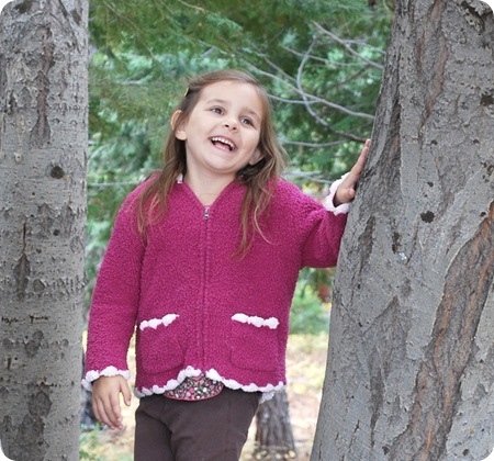 sweet girl in tree