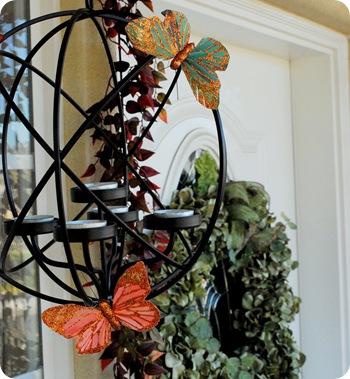 butterflies on globes