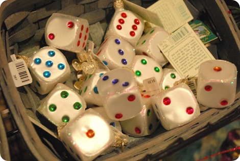 dice ornaments