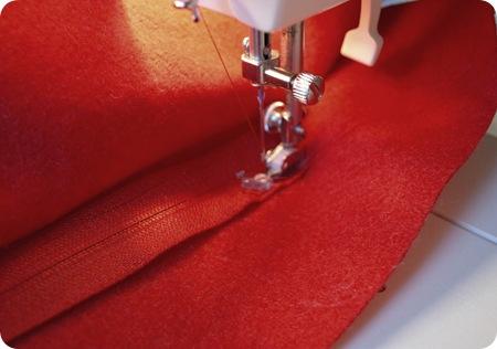 install red zipper