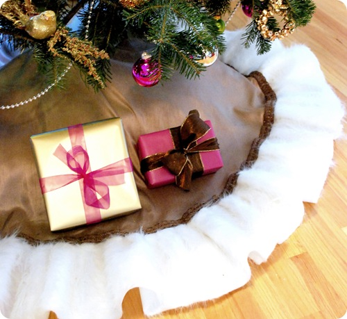 fur lined tree skirt full