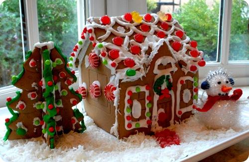 homemade gingerbread house