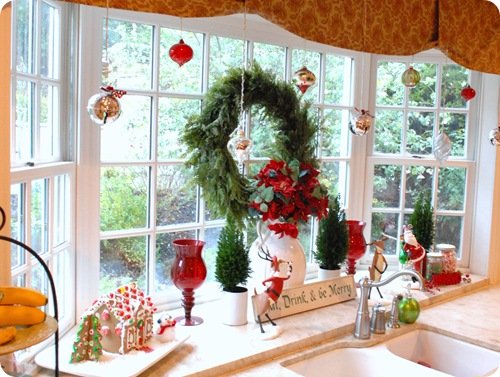 kitchen window santa