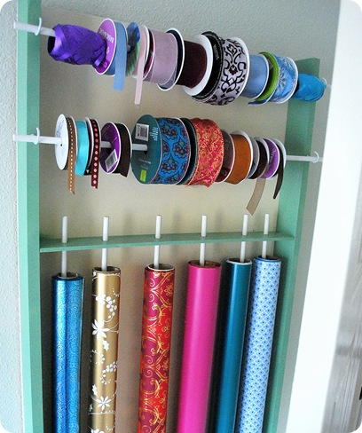 diy wrap and ribbon organizer
