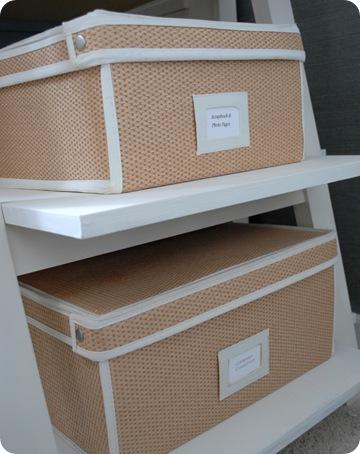 woven baskets in office