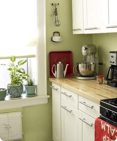 design sponge green and white kitchen
