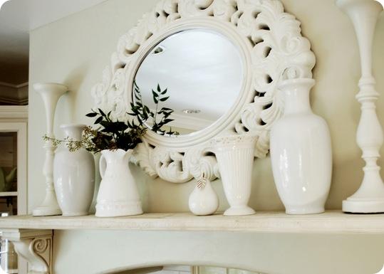 kitchen mantle mirror
