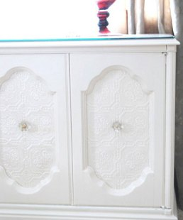 sideboard with urn