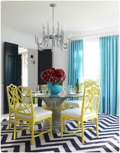 chinese chippendales in yellow jonathan adler house beautiful