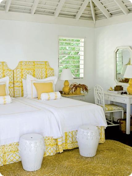 coastal living yellow batik print