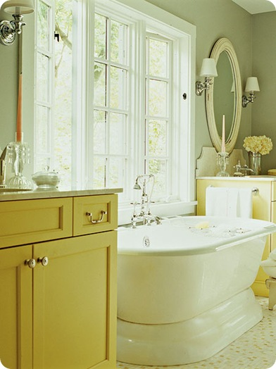 cottage living yellow bathroom