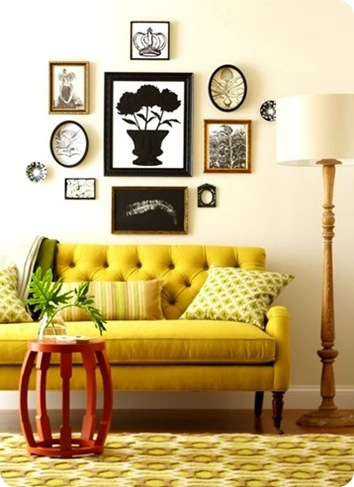 diy ideas art and sofa