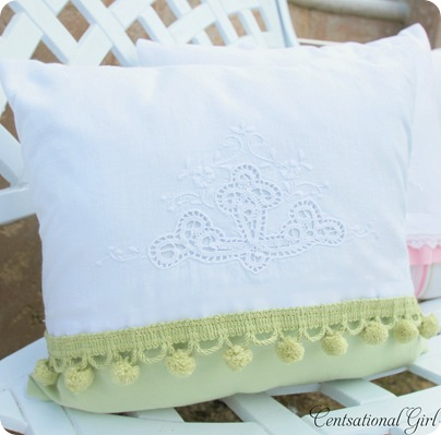 green tea towel pillow (2)