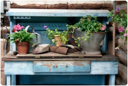 istockphoto potting bench