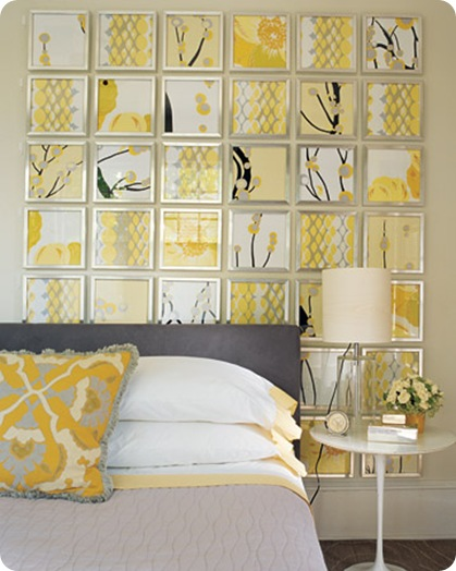 yellow and gray display