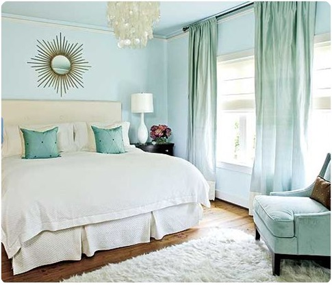 southern living blue and gold bedroom
