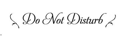 do not disturb image