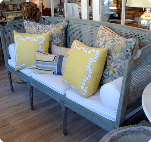 gray rattan sofa