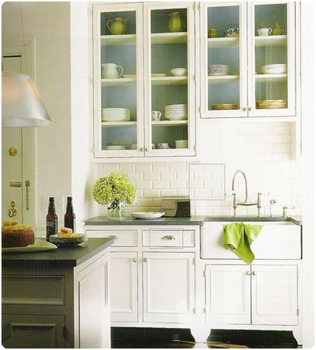 Green Kitchen Cupboard: Color Crush: Seaglass