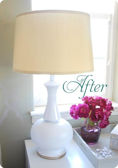 lamp after text