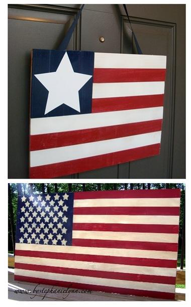 wooden flags