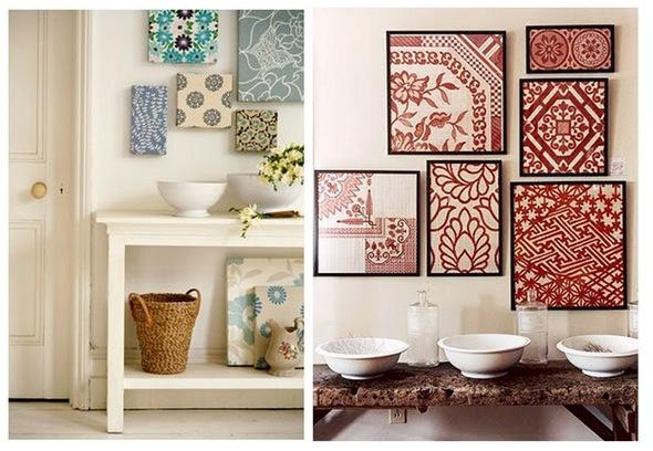 canvases on wall