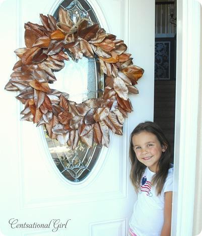 cg girl and wreath