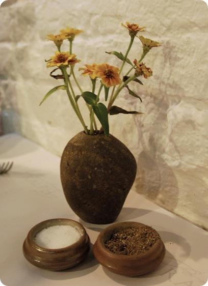 river rock vase