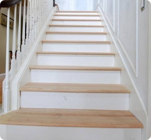 The Risers And The Treads Centsational Style | Installing Hardwood Stair Treads | Stair Railing | Wood Flooring | Staircase Makeover | Wooden Stairs | Carpeted Stairs