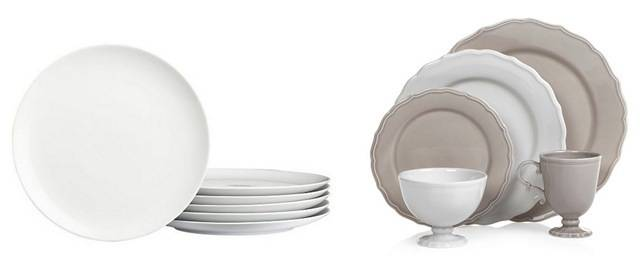 White dishes never fail centsational style for Plain white plates ikea