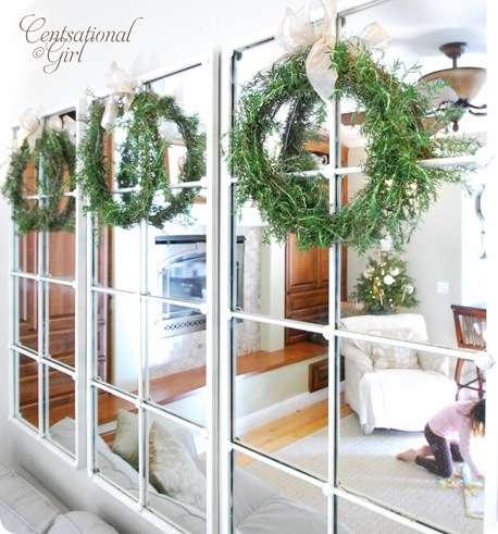 cg rosemary wreaths on mirrors