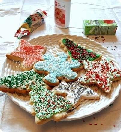 christmas cookies on platter