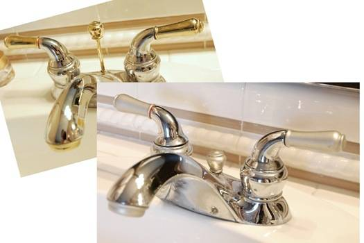 bathroom fixture before and after