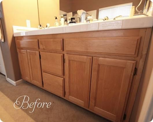 bathroom lower cabinet before