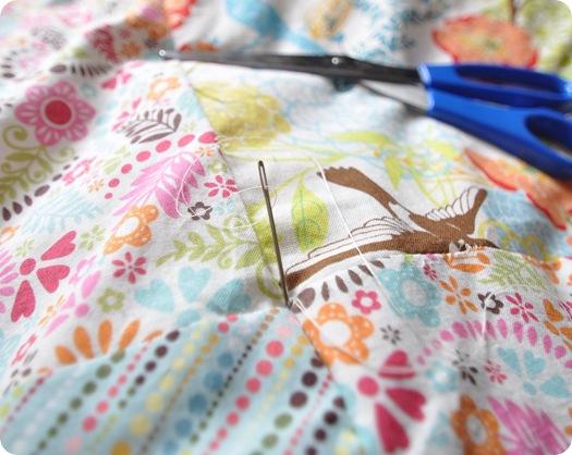 hand sew corners