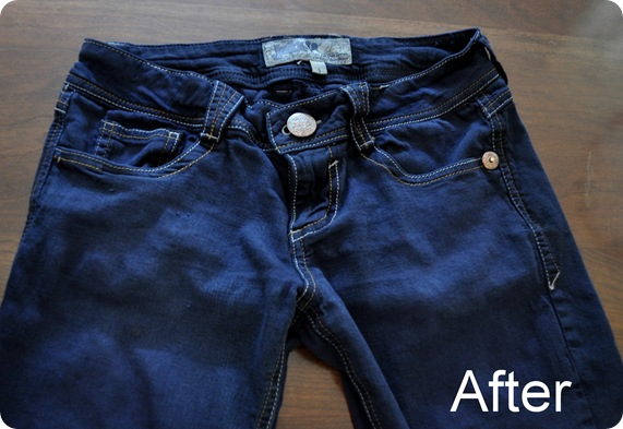 jeans after dye