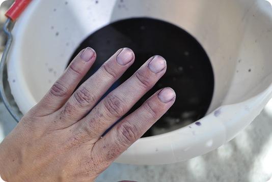 violet hands