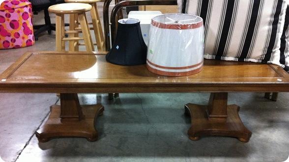 bench thrift store