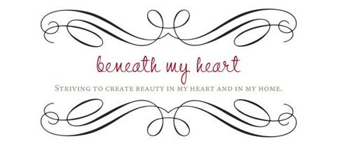 beneath my heart header