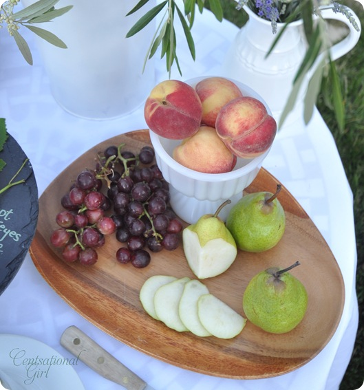 fruit display wood platter cg